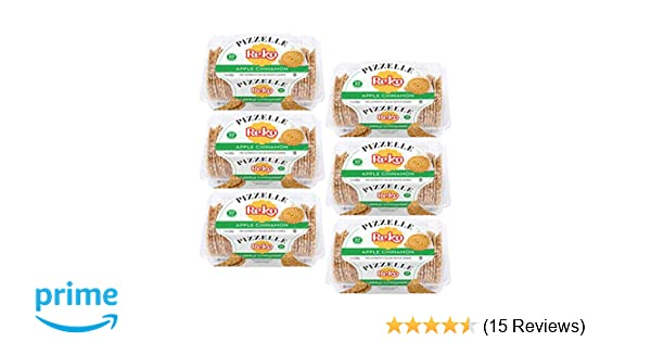 Reko Apple Cinnamon Pizzelle - 6 Pack: Amazon.com: Grocery & Gourmet Food