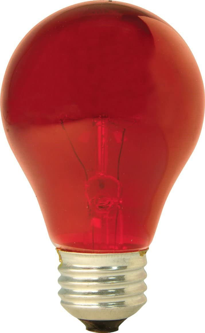 GE 49727 (6-Pack) 25-Watt Red Incandescent Party Light Bulb, A19 Shape, 1900 Lumens, E26 Medium Base
