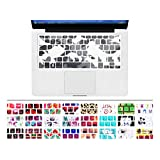 """HRH Unique Ultra Thin Durable Keyboard Cover Silicone Skin for MacBook Pro 13"""" 15"""" 17"""" (with or w/out Retina Display) iMac and MacBook Air 13"""" (Army Camouflage.Gray)"""