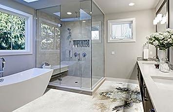3d Fußboden Erstellen ~ Ruvitex 3d belag dekor boden badezimmer vinyl pvc teppich