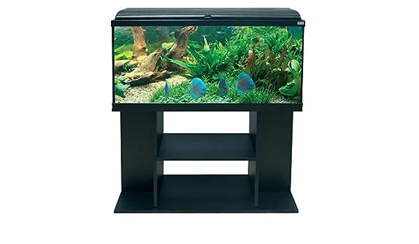 Conjunto Acuario AquaDream 100 negro LED + mueble: Amazon.es: Productos para mascotas