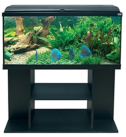 Conjunto Acuario AquaDream 100 negro LED + mueble