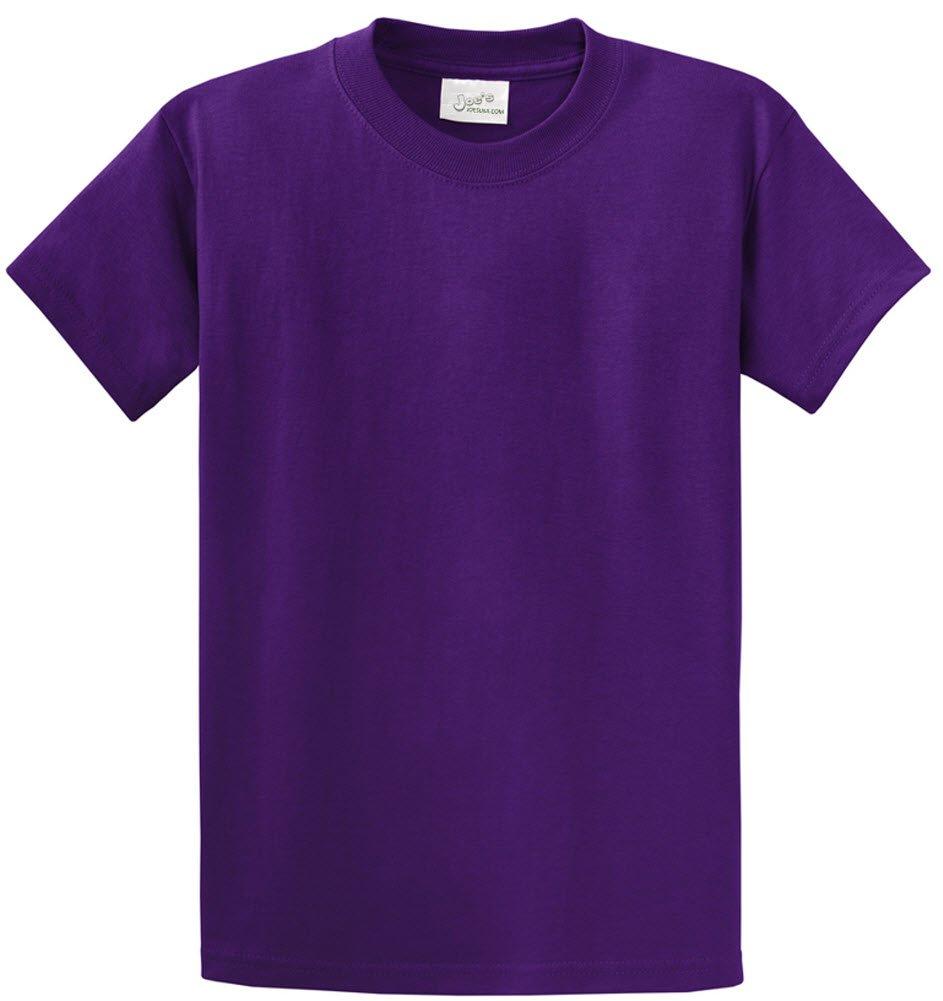 Joe's USA tm - Youth Heavyweight Cotton Short Sleeve T-Shirt in Size S