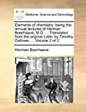Elements of Chemistry, Herman Boerhaave, 1140840215
