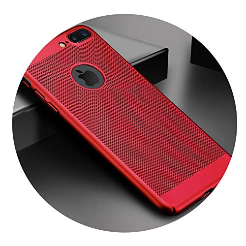 Ultra Slim Phone Case for iPhone 6 6s 7 8 Plus Hollow Heat Dissipation Cases Hard PC for iPhone 5 5S SE X S MAX,Red,for iPhone X