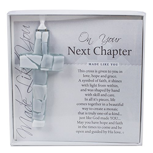 Retirement, New Career, New Home - On Your Next Chapter Boxed Poem Mosaic Glass Cross Ornament ()