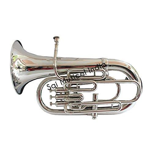 Queen Brass Euphonium Peu-025, Bb, 4 Valve (Nickel) by Queen Brass
