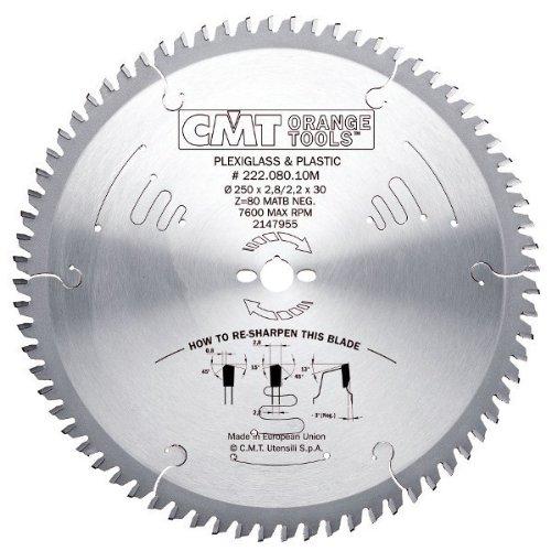 Cmt orange Tools 222,096,12M Kreissägeblatt und D für Plexiglas Kunststoff 300x 30x 2,896MATB Z