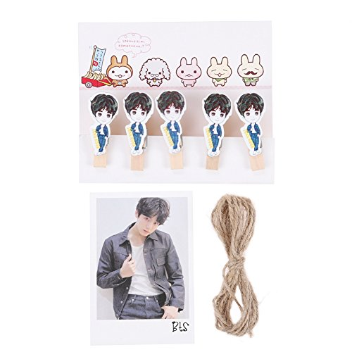 (Youyouchard BTS Bangtan Boys BTS Love Yourself [承 Her] [轉 Tear] [結 Answer] Photocard Lomo Card+Clip+Hemp Rope, and a Free Gift: Support Banner(H20))