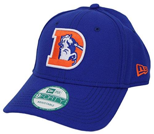笑い地域破産Denver Broncos New Era 9 Forty NFL「Throwback