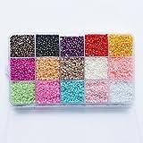 16000pcs 3mm Mixed 15 Colors Half Pearl Bead Flat Back Gem 1box