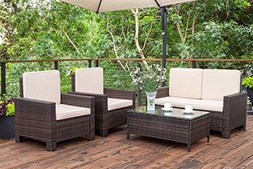 Amazon.com: Homall Juego de 5 piezas de muebles de patio al ...