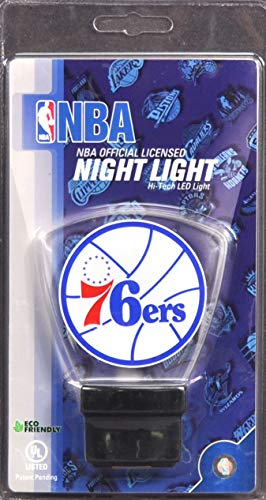 (Authentic Street Signs Philadelphia 76ers High Tech LED Nightlight No Bulbs to Change Lasts 10 Years)