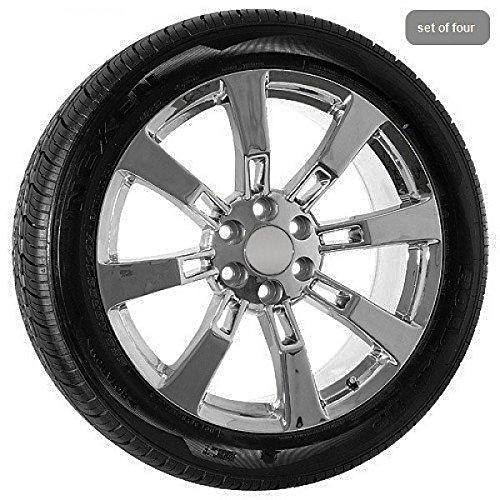 Amazon Com 22 Inch Chrome Chevy Truck Silverado Tahoe Wheels