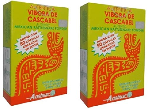 Cheap Authentic Mexican Rattlesnake Powder 100 Capsules 400 mg ea, Vibora de Cascabel capsulas