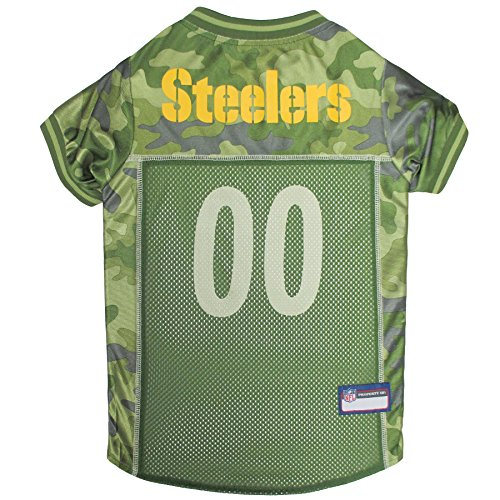 NFL Pittsburgh Steelers Camouflage Dog Jersey, Small. - CAMO PET Jersey Available in 5 Sizes & 32 NFL Teams. Hunting Dog Shirt ()