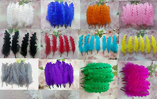 Color: Royal Blue Pukido 450 pcs//lot 14-18cm Babys Headbands Feather Hair tie Accessory Girls Headwear Childrens Head Band Accessories