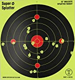 "12"" Bullseye Super Splatter Targets - 100, 50, 25, 10 Packs - Creates Huge Super Splatter Spots - See Your Hits Instantly"