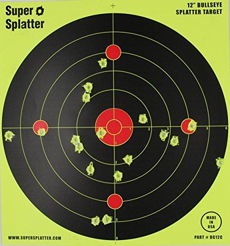 12' Bullseye Super Splatter Targets - 100, 50, 25, 10 Packs - Creates Huge Super Splatter Spots - See Your Hits Instantly