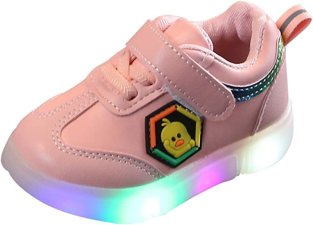 Kids Children Baby Boys Girls Led Light Up Sneakers Luminous Shoes Trainers