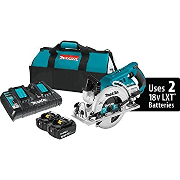 Makita XSR01PT 18V X2 LXT Lithium-Ion (36V) Brushless Cordless Rear Handle 7-1/4 Circular Saw Kit (5.0Ah)
