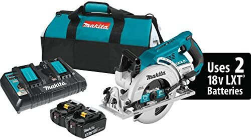 Makita XSR01PT 18V x2 LXT Lithium-Ion 36V Brushless Cordless Rear Handle 7-1 4 Circular Saw Kit 5.0Ah