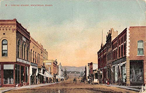 Pocatello Idaho Center Street Scene Historic Bldgs Antique Postcard K106971