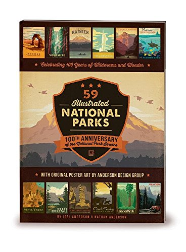 59 Illustrated National Parks - Softcover: 100th Anniversary of the National Park Service (Best Way To See Rocky Mountain National Park)