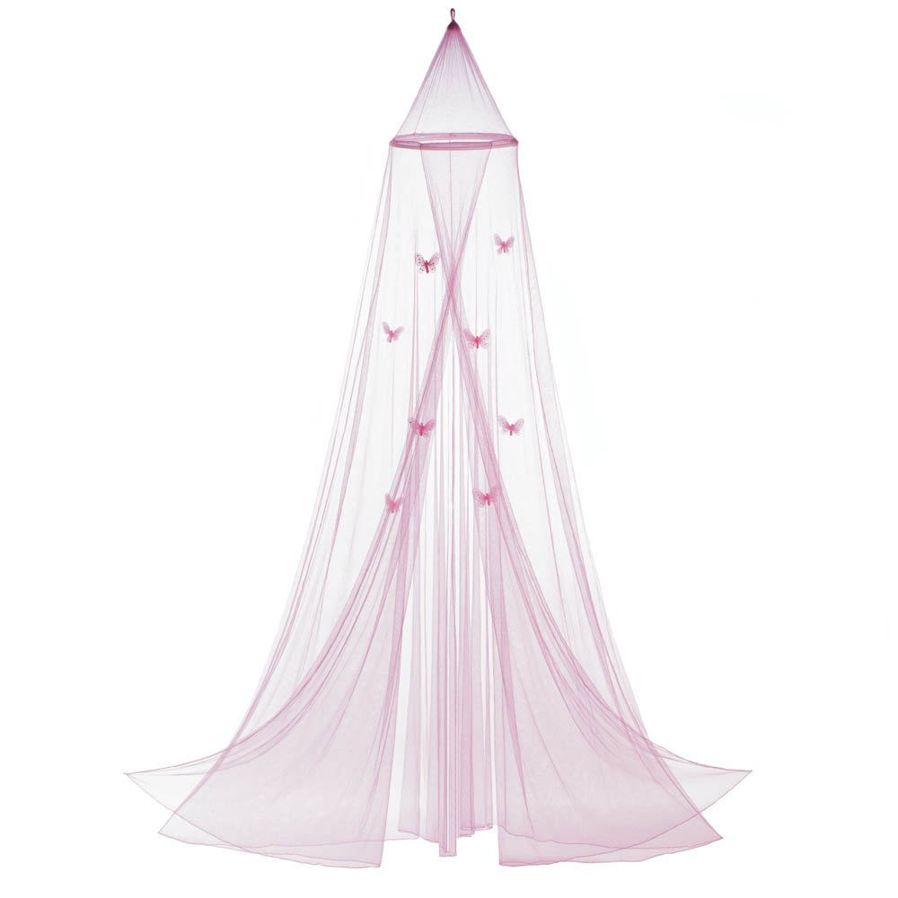 Accent Plus Princess Canopy, Mosquito Net Bed Canopy, Child Bed Pink Butterfly Crib Canopy
