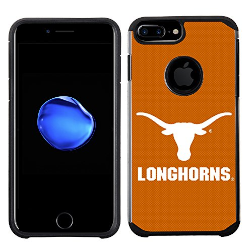 Prime Brands Group Textured Team Color Cell Phone Case for Apple iPhone 8 Plus/7 Plus/6S Plus/6 Plus - NCAA Licensed University of Texas Longhorns at Austin