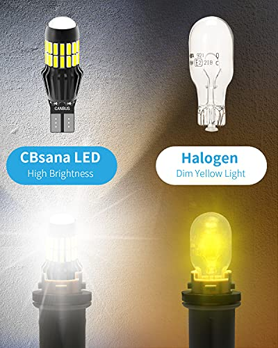 CBsana 921 922 579 912 LED Bulbs CANBUS Error Free T15 LED Back Up Light Bulbs 906 904 902 W16W Reverse Tail Lights 6000K Xenon White (Upgraded, Pack of 2)