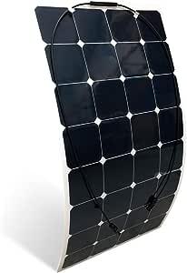 PlusEnergy Panel Solar Flexible Monocristalino 150W 12V Capa ETFE - Barco, Camping, Coche y Auntocaravana