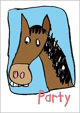 Im 5er Set Lustige Einladung Zum Geburtstag Zur Party Mit Pferd