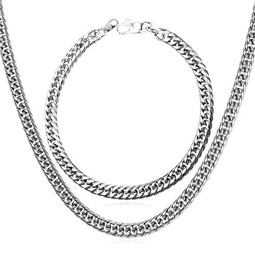 U7 Classic 6mm 12mm Bracelet Necklace