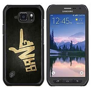 LECELL--Funda protectora / Cubierta / Piel For Samsung Galaxy S6Active Active G890A -- Explosión muestra de la mano del arma --