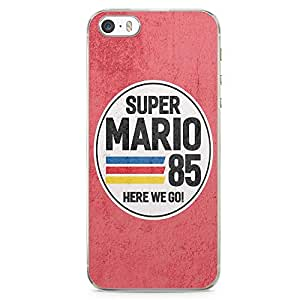 Loud Universe Classic Mario Brother iPhone SE Case 1985 Retro Style iPhone SE Cover with Transparent Edges