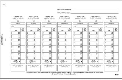 691L Lot of 3 JJ KELLER 8529 Driver/'s Exemption Log Short-Haul Operations