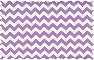 product image for SheetWorld Lilac Chevron Zigzag Fabric - By The Yard