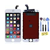 """ZTR LCD Touch Screen Digitizer Frame Assembly Full Set LCD Touch Screen Replacement for iPhone 6 4.7"""" - White"""