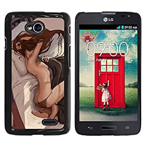 All Phone Most Case / Hard PC Metal piece Shell Slim Cover Protective Case Carcasa Funda Caso de protección para LG Optimus L70 / LS620 / D325 / MS323 sexy cheeks lingerie bed sensual woman