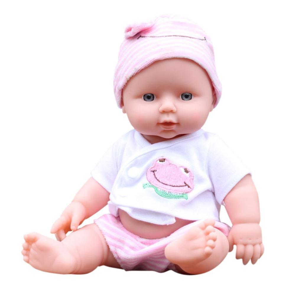 e-scenery Love Jenna 12-inchソフトBodyベビー人形withキュート衣装と一致する帽子、Play人形with驚くほど詳細な目、ヘッド、腕、脚と、早期教育玩具 ピンク E-SCENERY  ピンク B07B7MXVGS