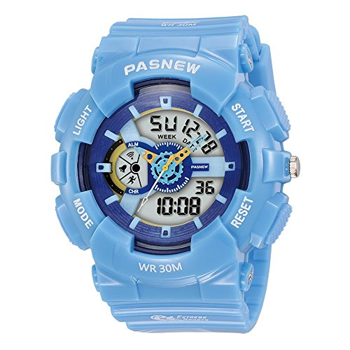 Super cool 7 Colors Background Lights 100 Feet Waterproof Sports Wrist Watches for Girls Boys ages 5 - 15
