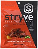 Stryve Biltong Spicy Peri Peri | No Fat, Low Carb, Low Sugar | 16g Protein | 4oz | Gluten Free and Ketogenic