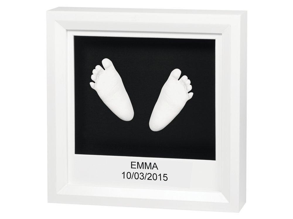 Baby Art 34120078 - Window Sculpture Frame - 3D Bilderrahmen für Hand- oder Fußabdruck, white and black