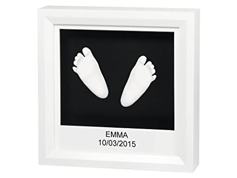 10046f05 Baby Art My Little Steps Sculpture Frame, White: Amazon.co.uk: Baby