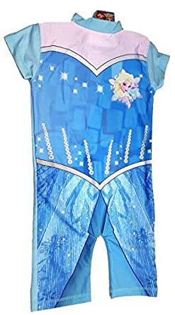 8b4855df67 Childrens Frozen Swimsuit Official Disney Boys Girls Swimming Costume UV Sun  Protection 50+ (Age
