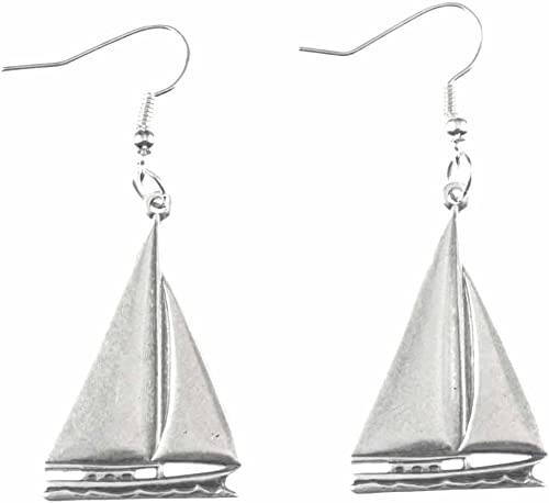 Sailboat necklace and matching earrings