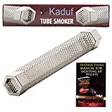 "Kaduf Pellet Tube Smoker 12"" for Smoking, Turns any Grill Into a Smoker, Designed to Add More Smoky Flavor to Your Foods for 4H, Works With Pellets and Wood Chips, Ideal for Bbq, Hot and Cold Smoke"