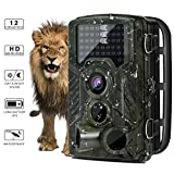Wildlife Trail Camera - YKS Hunting Game Cam with Infrared Night Version, 2.4 inch LCD Screen, PIR Sensors, TF card up to 32GB, 46 infrared light, IP56 Spray Water Protected design