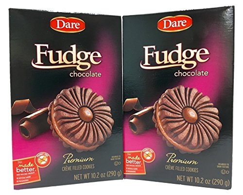 Dare Premium Chocolate Fudge Crème Filled Cookies - 2 Boxes by Dare